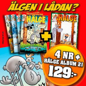 4 nr + Hälge album 21 för 129 kr